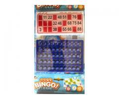 Jogo de Bingo Brinquedo Criança Diversão