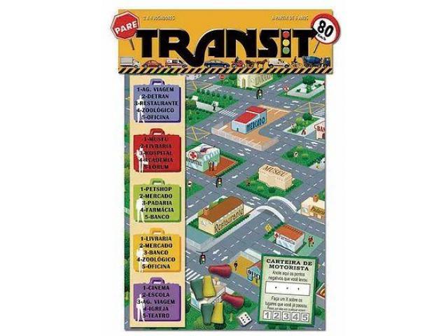 Jogo de Tabuleiro TRANSIT de 2 a 4 Jogadores Papel - 1/1