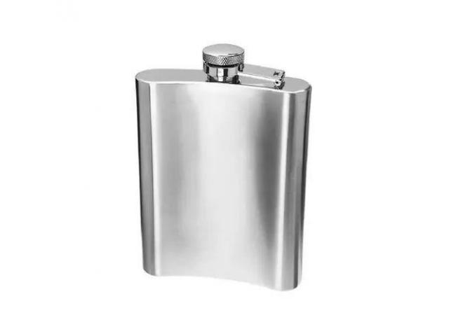 Cantil Porta Bebida de Bolso 200ml Inox - 1/2