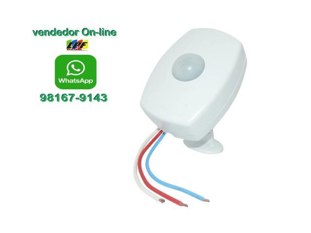 Sensor de Presença para Iluminação Bivolt + Fotocélula Cftv Portão Garagem etc - 1/3