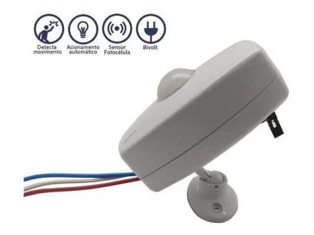 Sensor de Presença para Iluminação Bivolt + Fotocélula Cftv Portão Garagem etc - 3/3