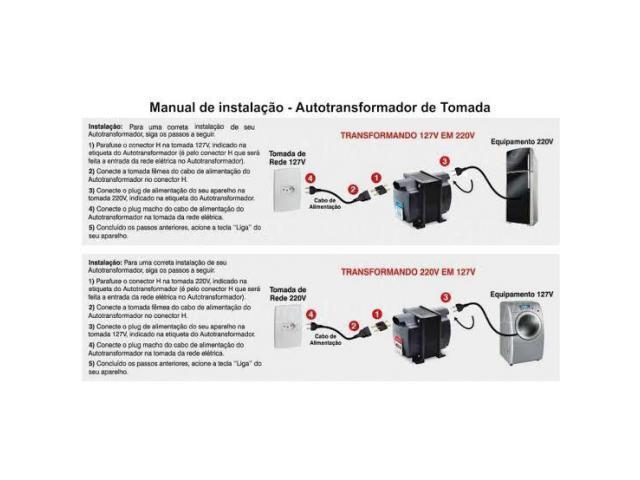 Auto Transformador  220V/110V /  110V/ 220 V Portatil - 5/6
