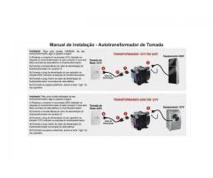 Auto Transformador  220V/110V /  110V/ 220 V Portatil - Imagem 5/6