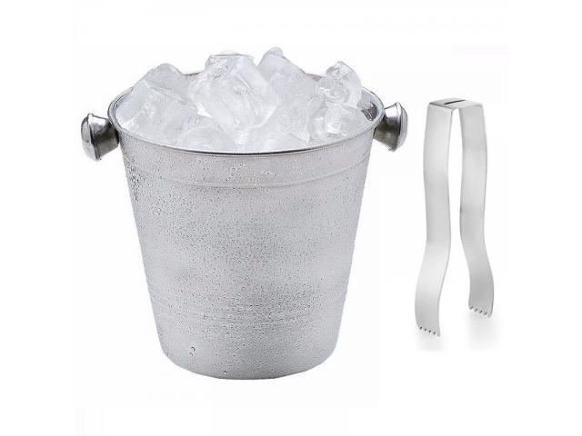 Balde de Gelo Aço Inox com Pegador - 1/4