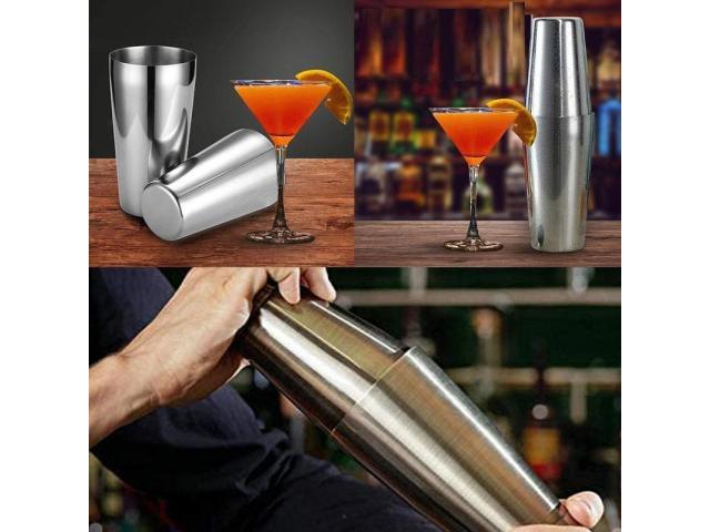 Coqueteleira Estilo Boston Drinks Inox 600ml - 5/5