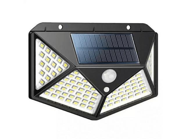 Luminária Solar 100 Leds Com Sensor Presença Sem Fio à Uso Interno  &  Externa 3 Modos - 2/6