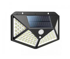 Luminária Solar 100 Leds Com Sensor Presença Sem Fio à Uso Interno  &  Externa 3 Modos