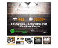 Luminária Solar 100 Leds Com Sensor Presença Sem Fio à Uso Interno  &  Externa 3 Modos - Imagem 4/6