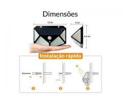 Luminária Solar 100 Leds Com Sensor Presença Sem Fio à Uso Interno  &  Externa 3 Modos - Imagem 6/6