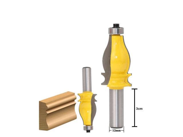 Fresa para Molduras Corrimão Corte Aprox. de 40mm - Haste 12mm - 1/2