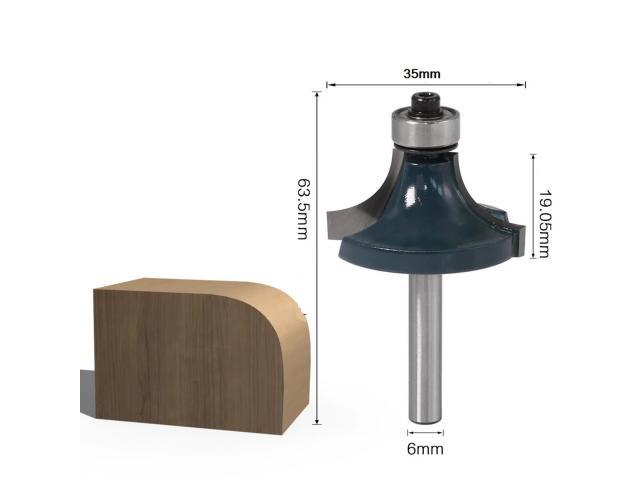 Fresa Modeladora Para Arredondar Cantos Com Rolamento Haste 6mm - 2/3