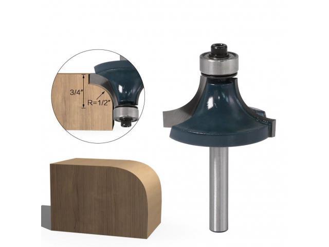 Fresa Modeladora Para Arredondar Cantos Com Rolamento Haste 6mm - 3/3
