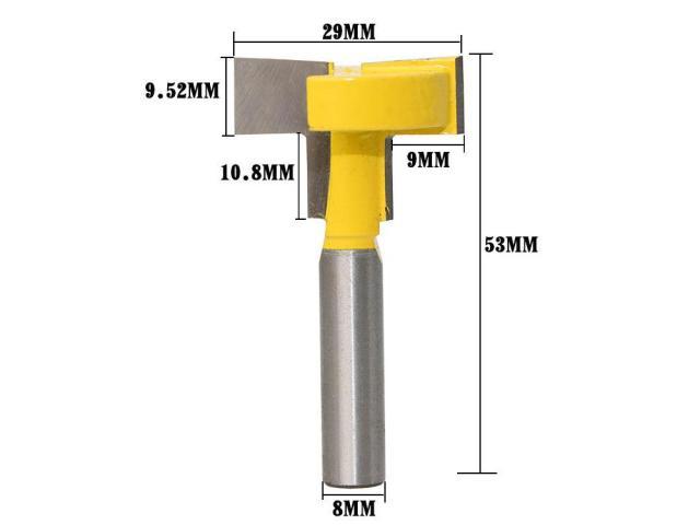 Fresa Para Fazer Painel Tipo Canaletado Madeira Mdf - Haste 8mm - 3/3