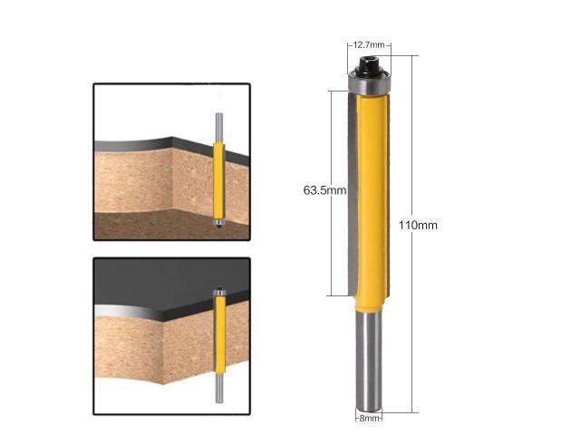 Fresa Refiladora Haste de 8mm com Rolamento - Corte de 63mm - 1/2
