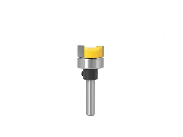 Fresa Refiladora Cabeça Chata/reta Com Rolamento Haste 6mm - 1/2