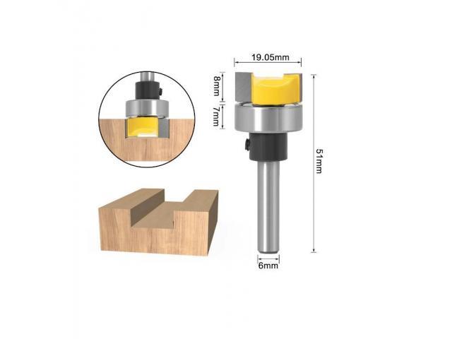Fresa Refiladora Cabeça Chata/reta Com Rolamento Haste 6mm - 2/2