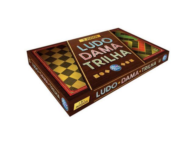 Jogo de Tabuleiro 3 Jogos Ludo Dama e Trilha - 2/2