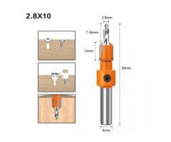 Broca Escareadora Cabeça 8mm Medidas 2.8 -3.0/3.2 mm - 1 Unidade - Imagem 5/6