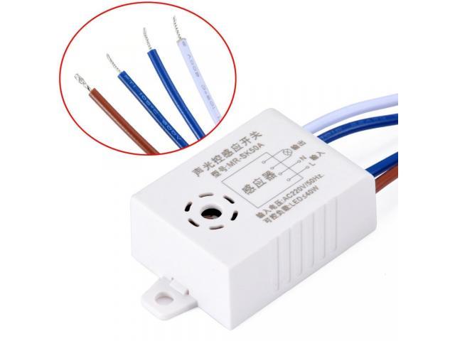 Interruptor de lampada Sensor de Som e Luz Por Voz e Palmas - 2/4