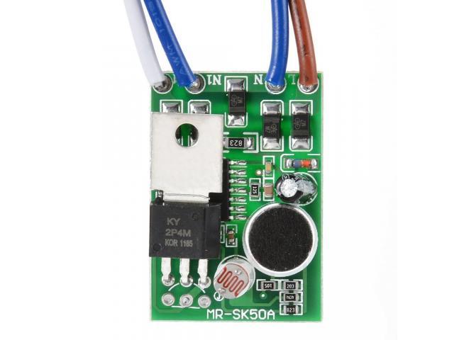 Interruptor de lampada Sensor de Som e Luz Por Voz e Palmas - 3/4