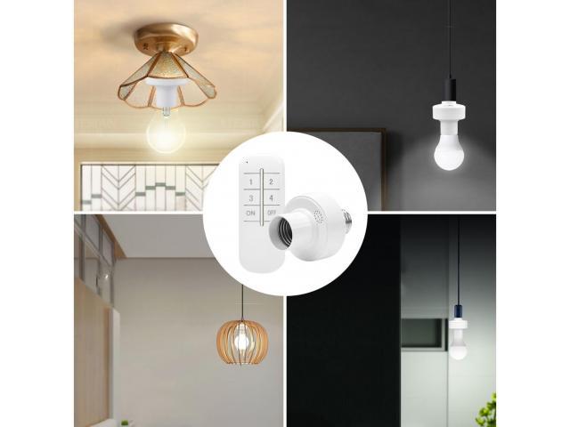 Soquete Wi-fi Para lampada Sem Fio Control Por Controle Remoto - 6/6