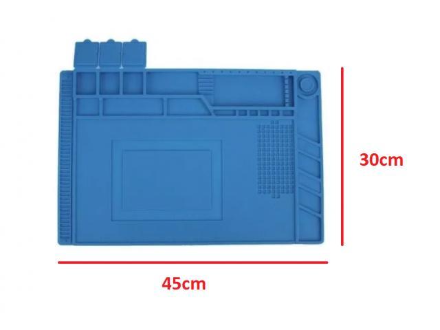 Manta Tapete Anti-Estático 45cm x 30cm com Divisória - Bancada Conserto de Celular - 2/4