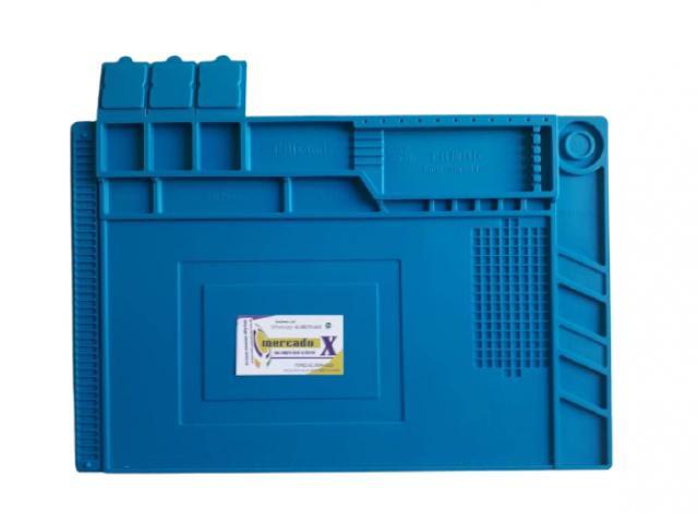 Manta Tapete Anti-Estático 45cm x 30cm com Divisória - Bancada Conserto de Celular - 3/4