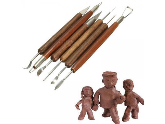 Espatulas Para Esculpir Argila Cera Escultura Massa Epoxi - Kit DIY com 6pcs - 1/6