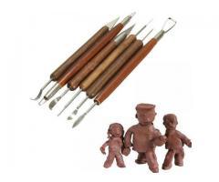 Espatulas Para Esculpir Argila Cera Escultura Massa Epoxi - Kit DIY com 6pcs