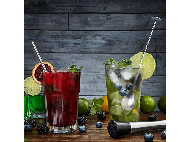 Colher Bailarina Inox para Bebidas Drinks Coquetel Barman etc - 3/3