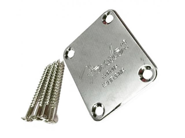 Neck Plate Fender Inox Completo + Parafusos e Plastic Back - 1/6