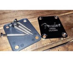 Neck Plate Fender Inox Completo + Parafusos e Plastic Back - Imagem 6/6