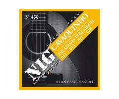 Encordoamento Nig N450 P/ Cavaquinho + 1 Corda Extra +1 Palheta de Brinde