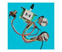 Kit Elétrica P/ Guitarra Telecaster Reparo Chave 3 Posições 1 Volume 1 Tone 500k