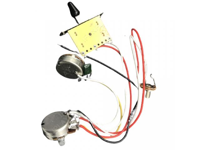 Kit Elétrica P/ Guitarra Telecaster Reparo Chave 3 Posições 1 Volume 1 Tone 500k - 4/6