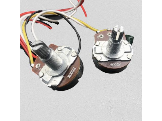Kit Elétrica P/ Guitarra Telecaster Reparo Chave 3 Posições 1 Volume 1 Tone 500k - 5/6