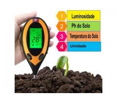 Medidor PH Solo Umidade Luz Termômetro - Digital 4x1 Jardinagem Plantas - Imagem 1/3