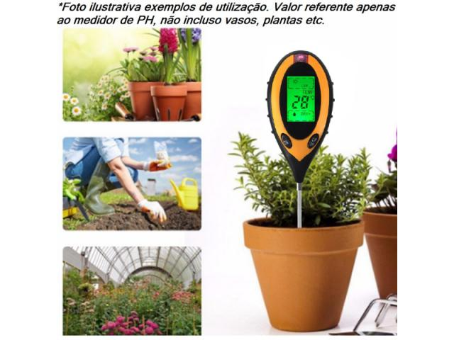 Medidor PH Solo Umidade Luz Termômetro - Digital 4x1 Jardinagem Plantas - 2/3