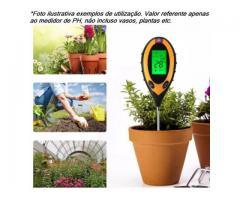 Medidor PH Solo Umidade Luz Termômetro - Digital 4x1 Jardinagem Plantas