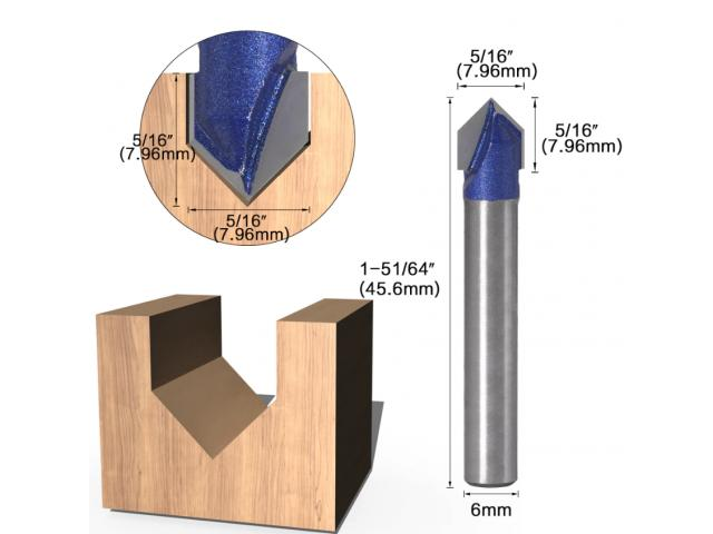 Fresa V Cabeça Flecha CNC - Unidade - 2/6