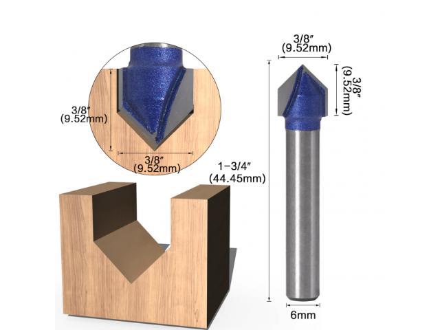 Fresa V Cabeça Flecha CNC - Unidade - 3/6