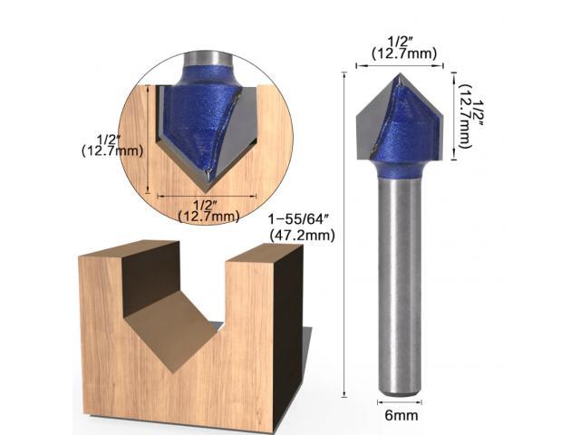 Fresa V Cabeça Flecha CNC - Unidade - 4/6