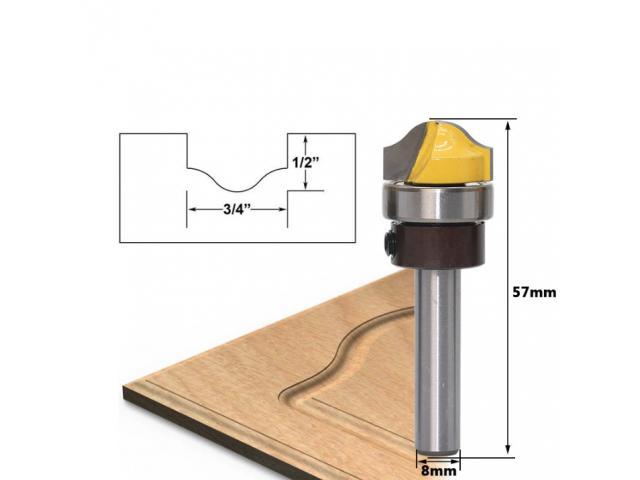 Fresa Detalhe Almofadado em Portas Haste de 8mm - 1/3
