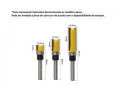 """Fresa Refiladora com Rolamento Haste 1/4"""" - Jogo com 14mm, 20mm, 38mm"""