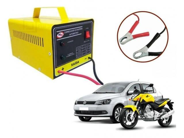 Carregador de Bateria Automotivo de 10AH 12V Carrega Carro Moto Barco - 1/6