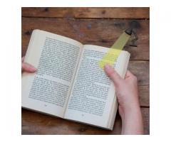Marcador de Página Estilo Luminária - Estudos Estudante Leitura Marca Página
