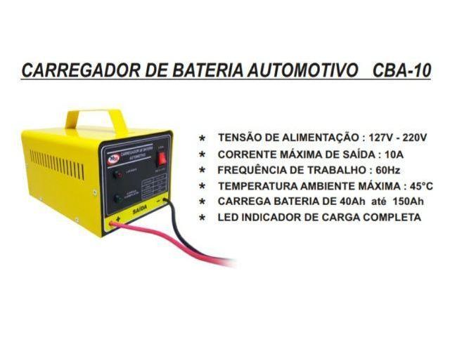 Carregador de Bateria Automotivo de 10AH 12V Carrega Carro Moto Barco - 3/6