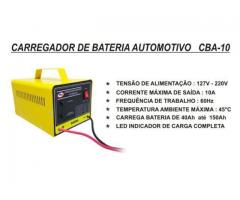 Carregador de Bateria Automotivo de 10AH 12V Carrega Carro Moto Barco