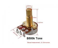 Jogo de Potenciômetro Telecaster A500k-B500k kit um  Par - Imagem 4/5