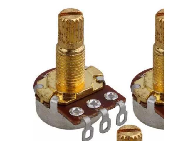 Jogo de Potenciômetro Telecaster A500k-B500k kit um  Par - 5/5